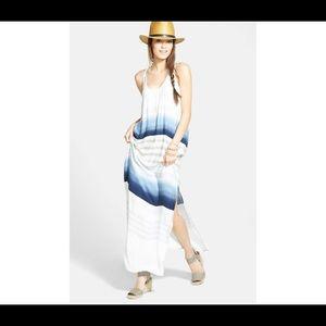 Tropical Stripe Maxi Dress